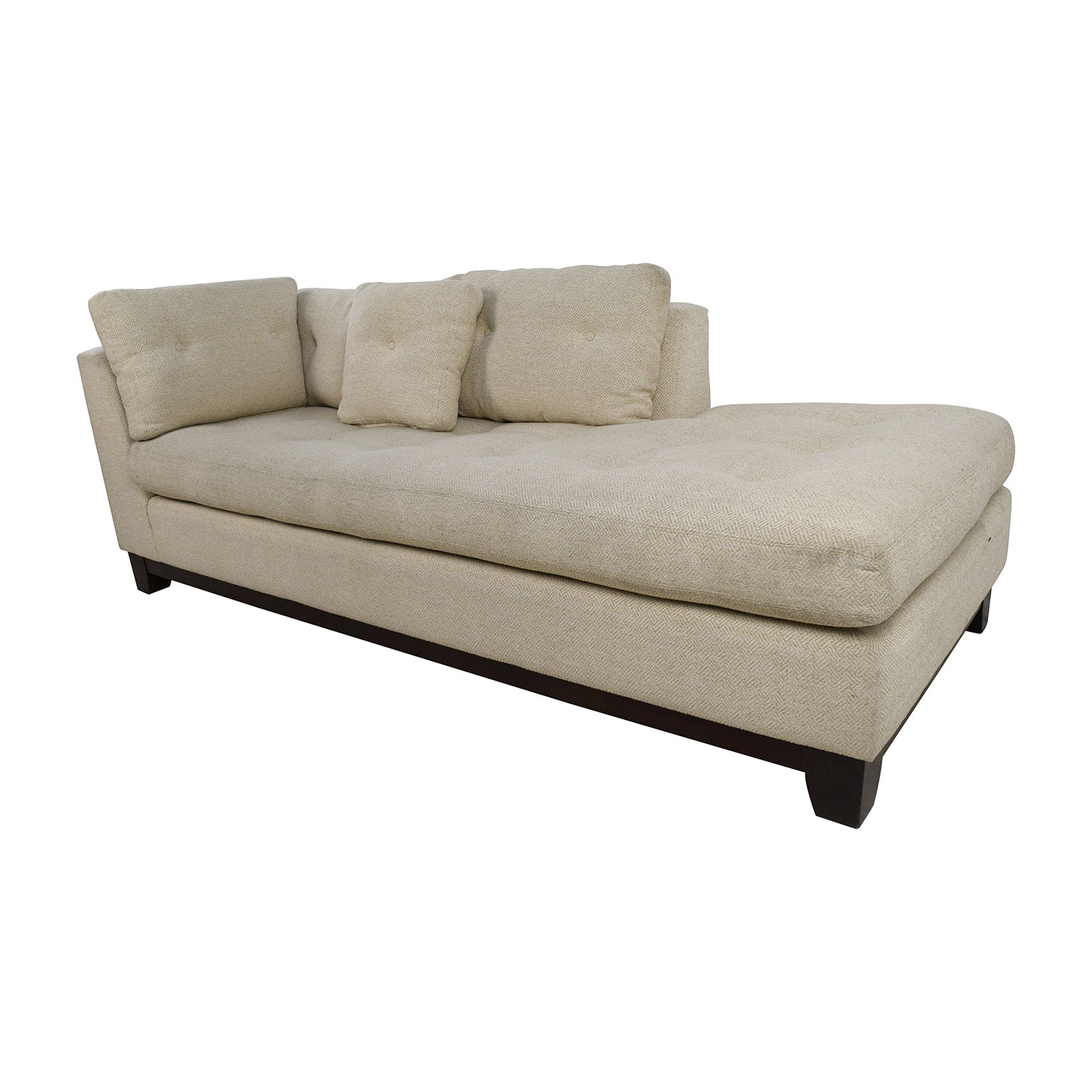 Fabric Sectional Sofas With Chaise 79% Off - Freestyle Tufted Natural Fabric Sofa Chaise / Sofas