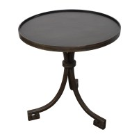 90% OFF - Round Metal Side Table / Tables