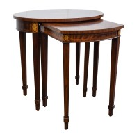 43% OFF - Antique Reproduction Wood Nesting Side Tables ...