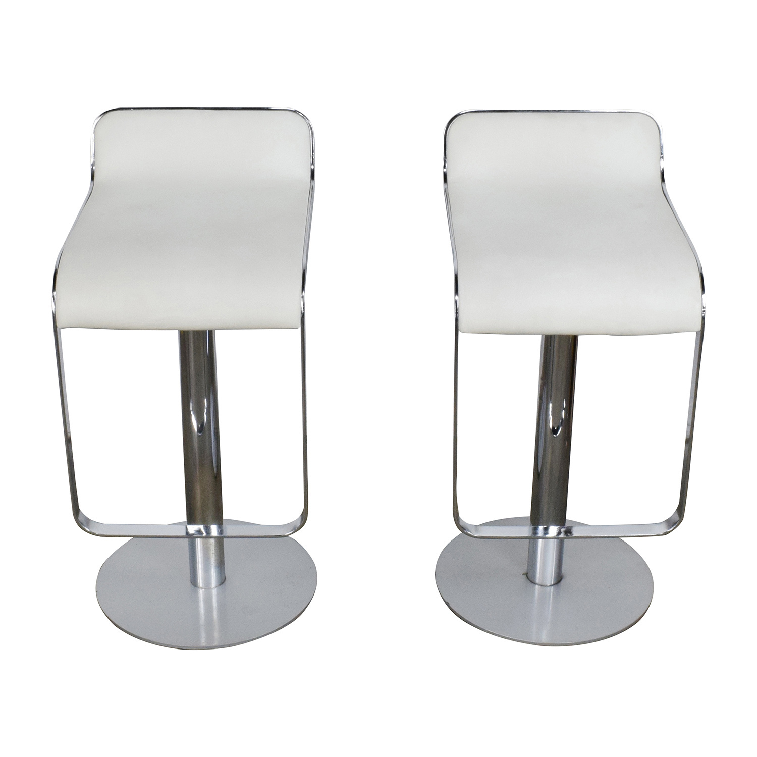 Modern White Bar Stools 88 Off All Modern All Modern White Leather Bar Stools