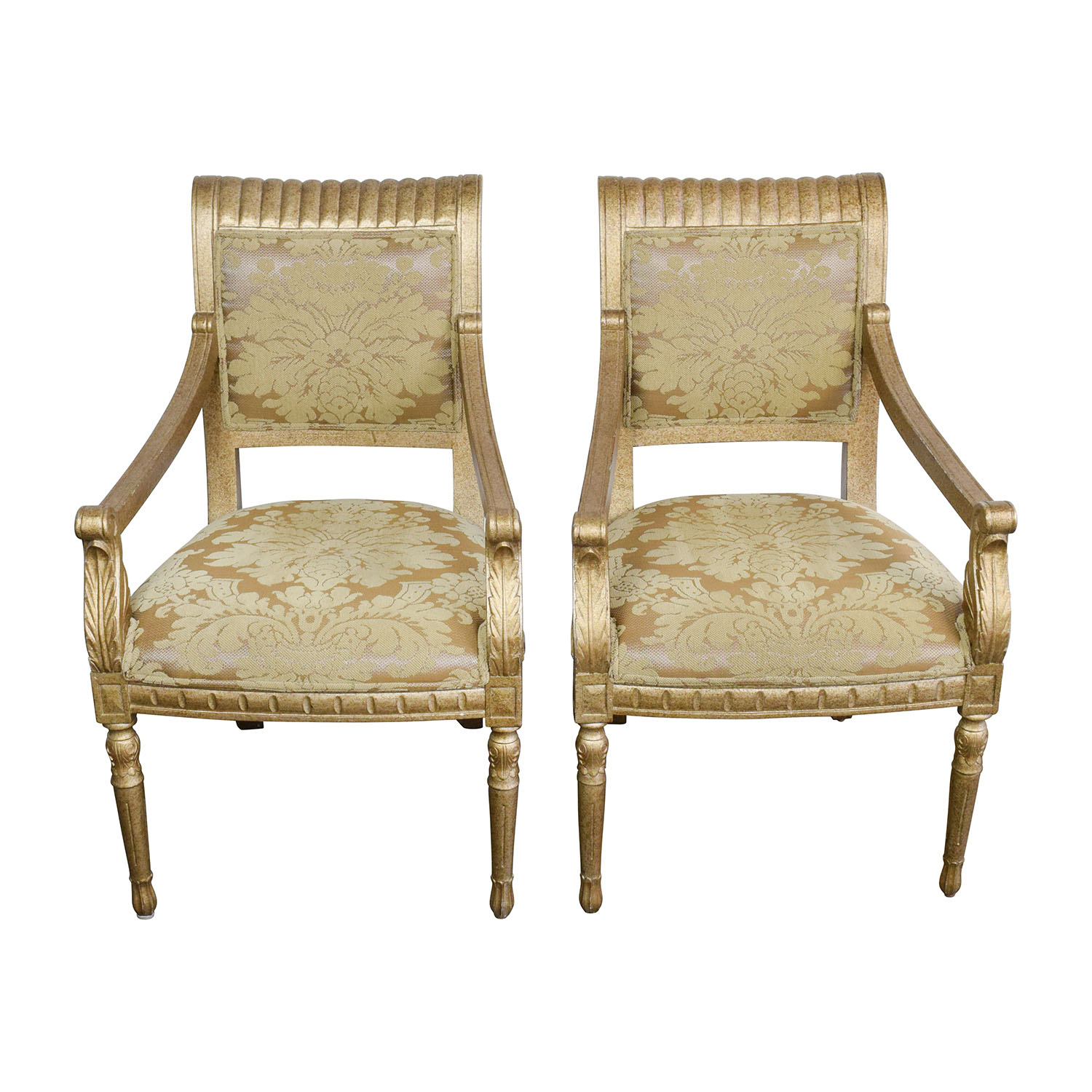 Accent Chairs Prices 80 Off Rustic Gold Upholstered Arm Accent Chairs Chairs