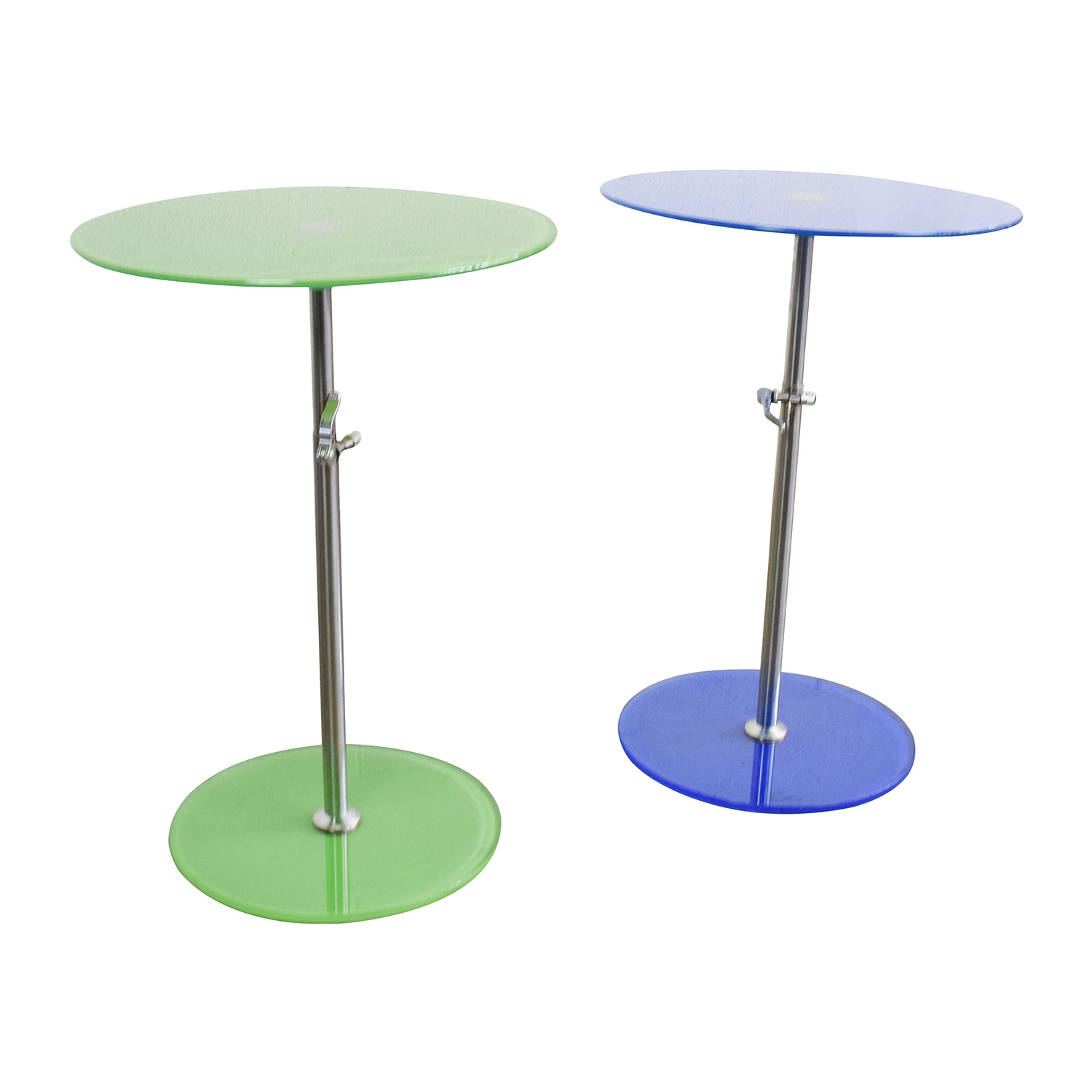 Round Glass Top End Tables 75 Off Modern Round Glass End Tables Tables