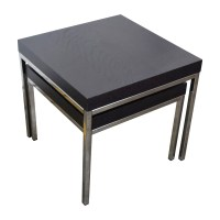 38% OFF - IKEA IKEA Klubbo Black and Chrome Nesting Tables ...