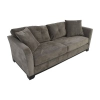 43% OFF - Macy's Macy's Grey Tufted Couch / Sofas