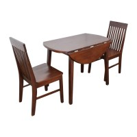 60% OFF - Round Dining Table with Folding Sides and Chairs ...