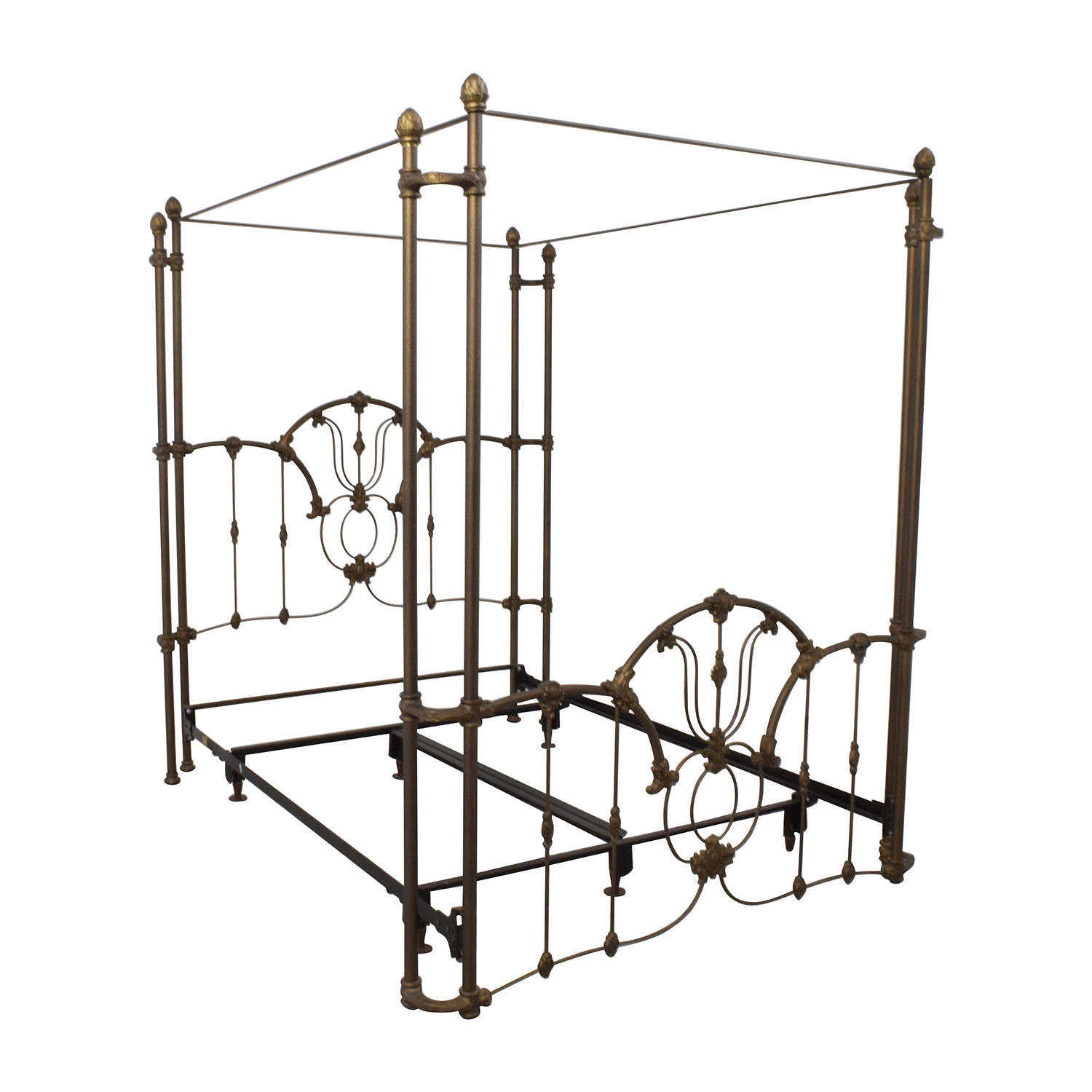 Canopy Bed Frame 60 Off Bronze Metal Canopy Queen Bed Frame Beds