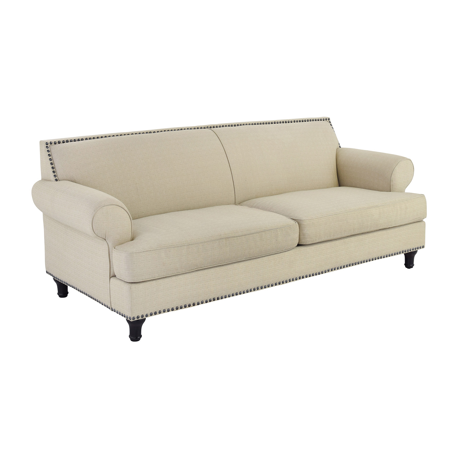 Sofa S 48% Off - Pier 1 Pier 1 Carmen Tan Couch With Studs / Sofas
