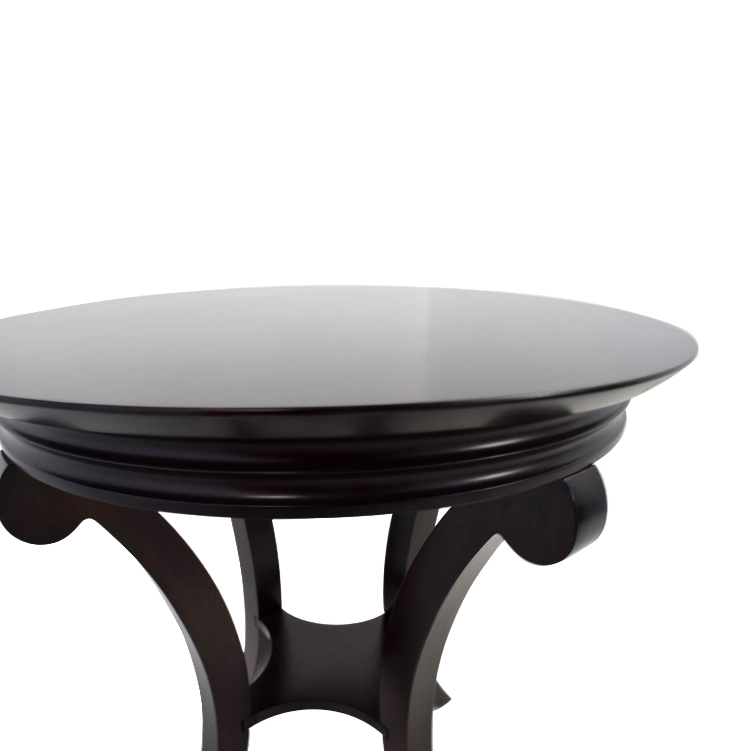 Buy Side Table 81 Off Round Mahogany Side Table Tables