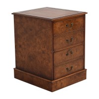 66% OFF - Wood Two-Drawer File Cabinet / Storage