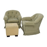 90% OFF - Sherrill Furniture Sherrill Furniture Skirted ...
