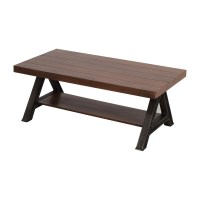 60% OFF - West Elm West Elm Wood and Metal Coffee Table ...