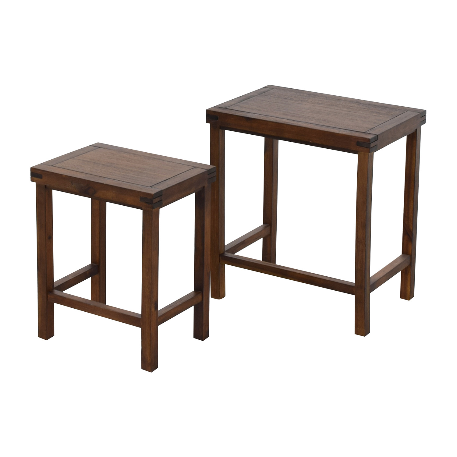 Stacking End Tables 31 Off Two Nesting Espresso Side Tables Tables