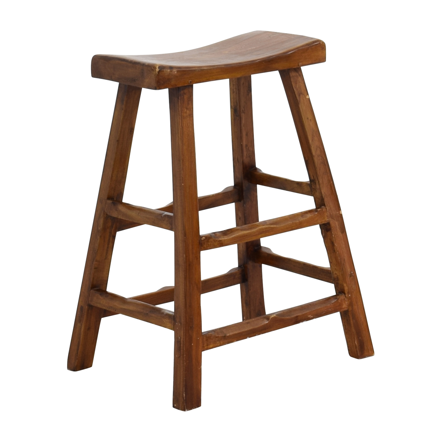 Rustic Stools Kitchens 55 Off Rustic Wood Saddle Seat Counter Stool Chairs