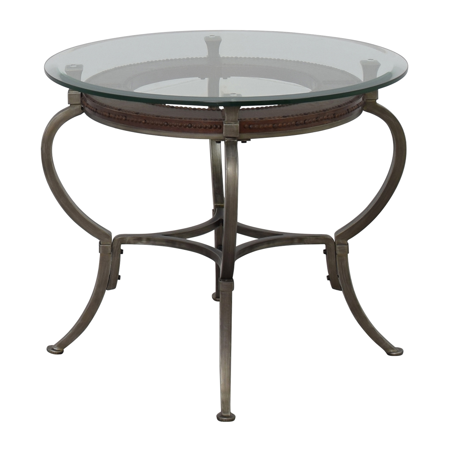 Round Glass Top End Tables 90 Off Macy 39s Macy 39s Artistica Round Glass And Metal