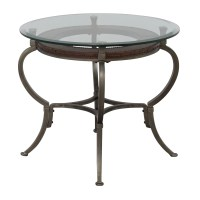 Glass And Metal Coffee Tables And End Tables