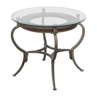 90% OFF - Macy's Macy's Artistica Round Glass and Metal ...