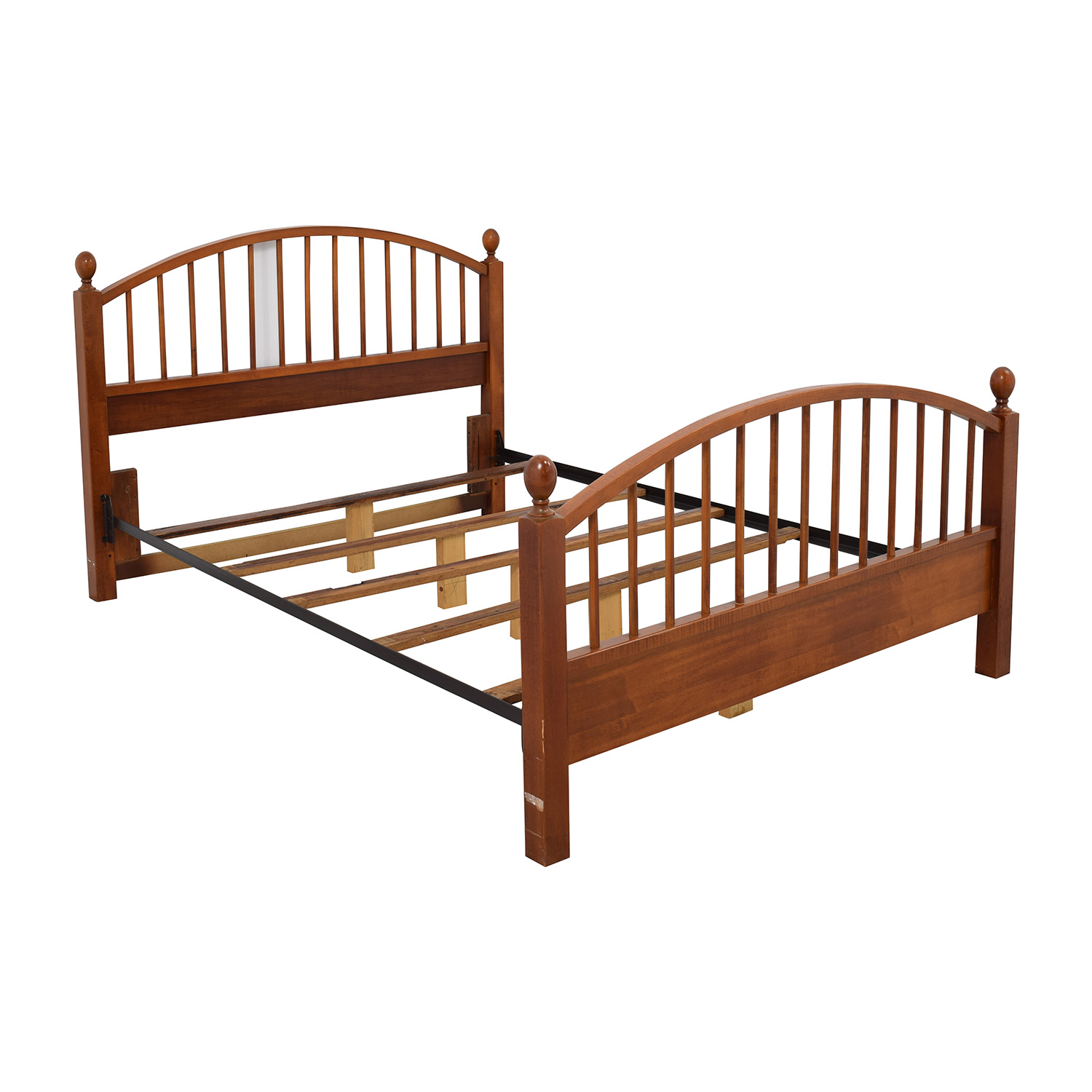 Queen Beds Online 77 Off Solid Oak Caged Queen Bed Frame Beds
