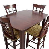 48% OFF - High Top Dining Table with Four Chairs / Tables