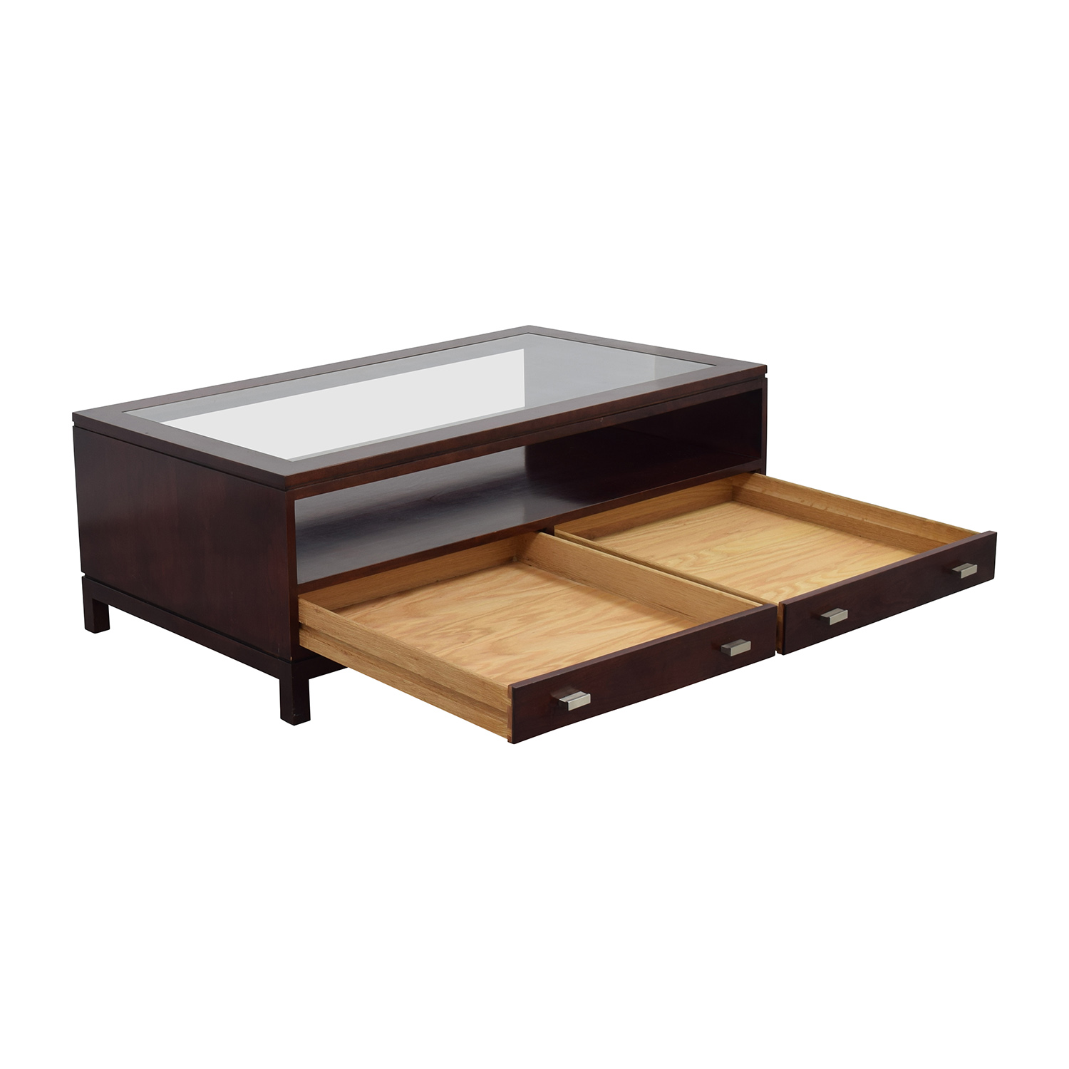 Wood Coffee Table With Storage 84 Off Stickley Wood Coffee Table With Storage Space