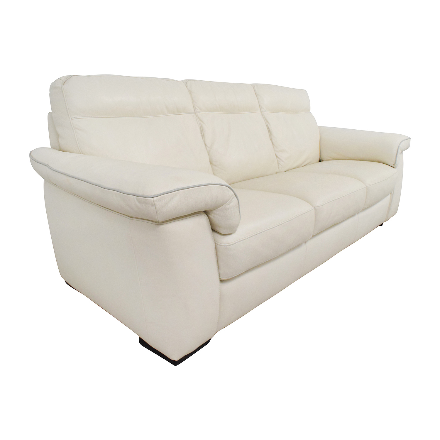 Buying A Second Hand Sofa 69 Off White Leather Three Cushion Sofa Sofas