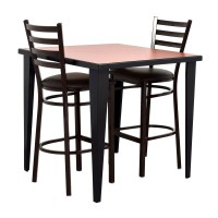 76% OFF - Counter Height Kitchen Table and Two Chairs / Tables