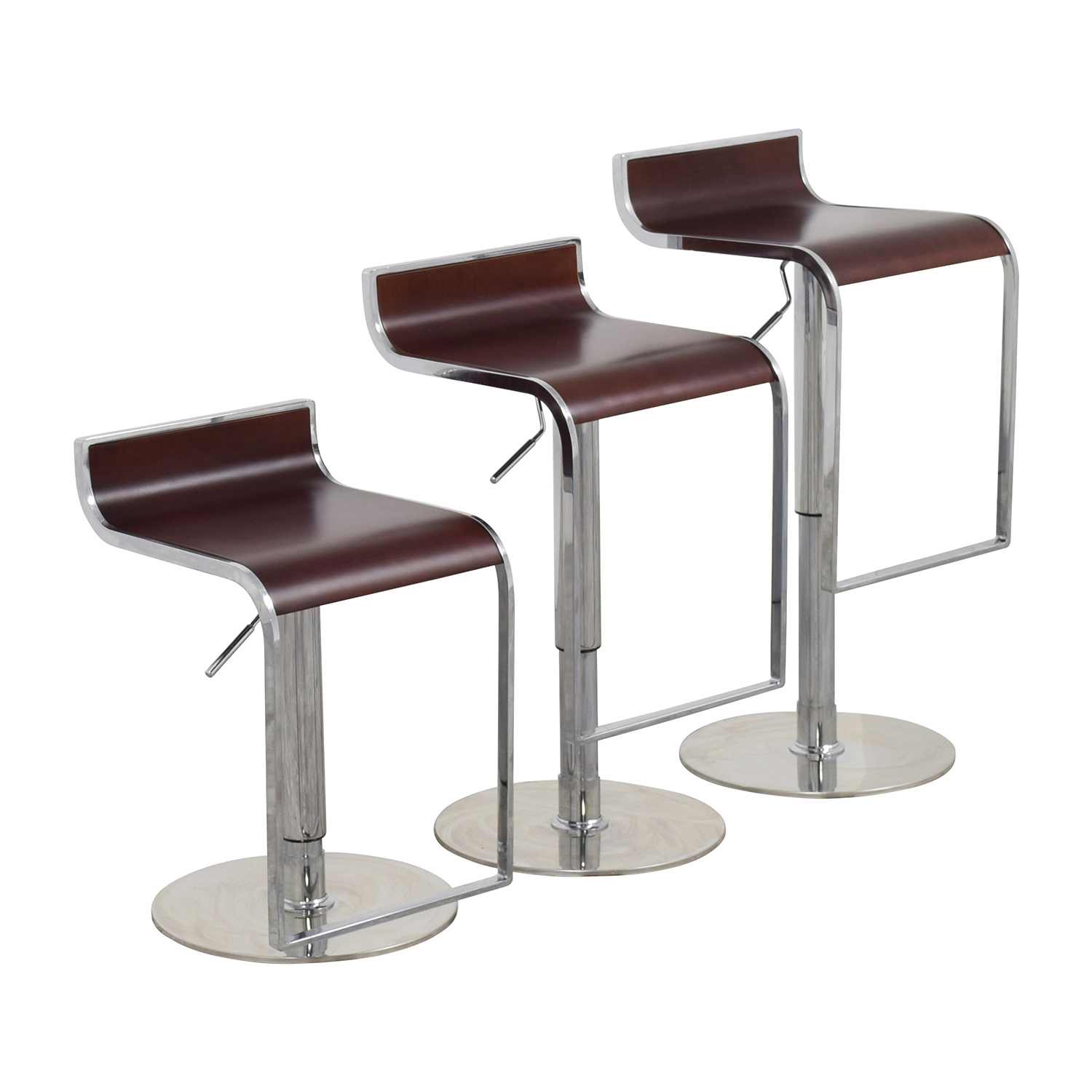 Brown Adjustable Bar Stool 84 Off Inmod Inmod Forest Brown Adjustable Bar Counter