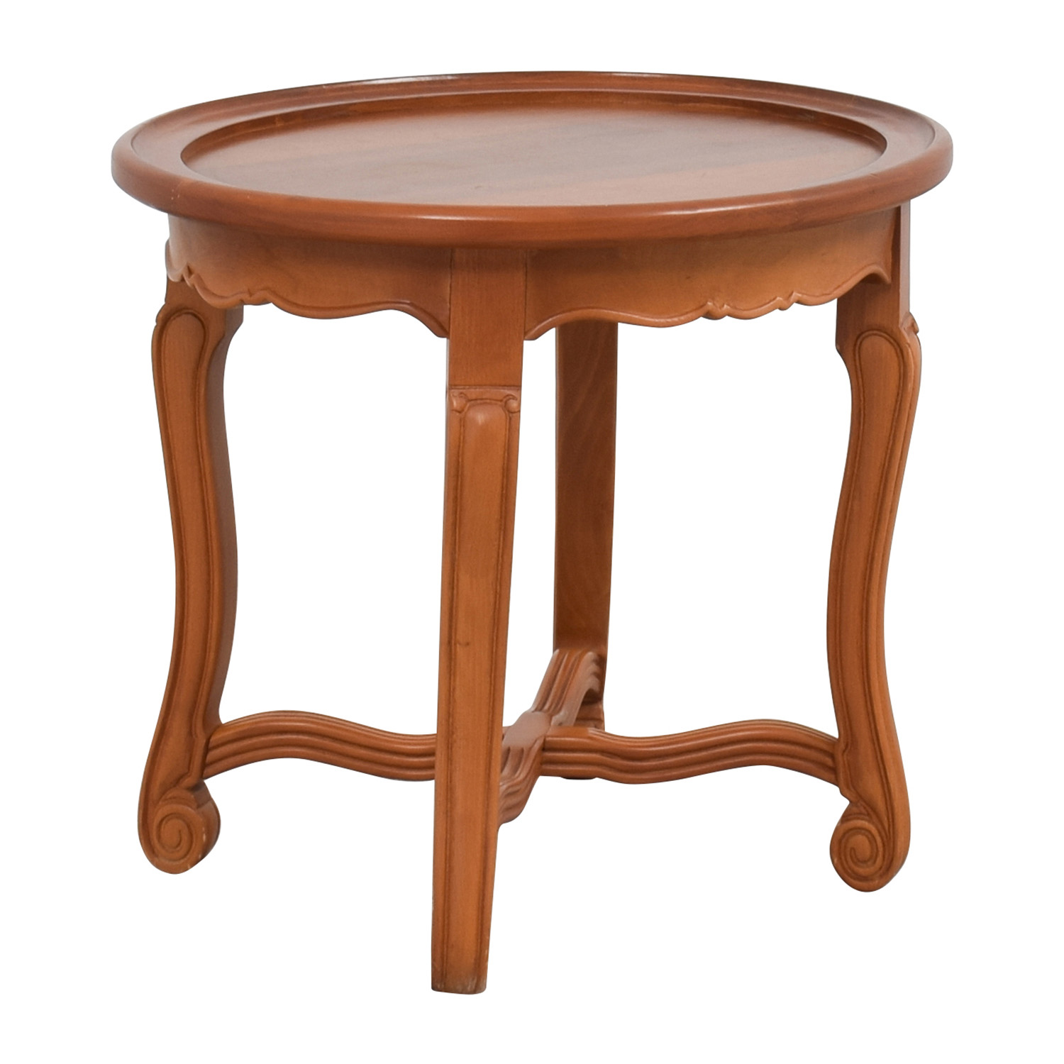 Buy Side Table 90 Off Round Antique Wood Side Table Tables