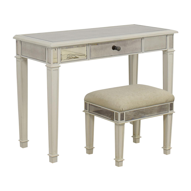 Antique white vanity set antique furniture