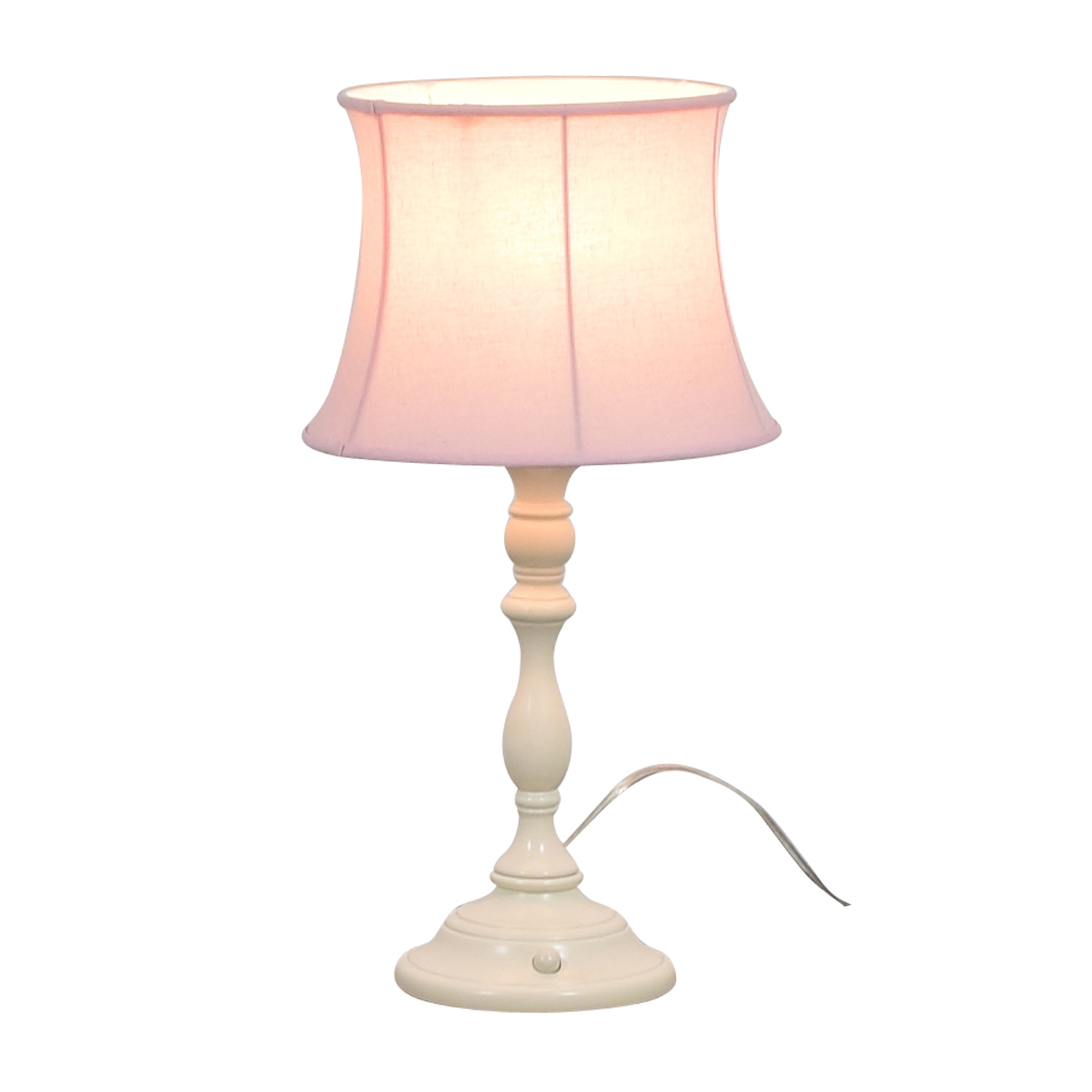Pink Lamp 70 Off Pottery Barn Pottery Barn Payton Push Button