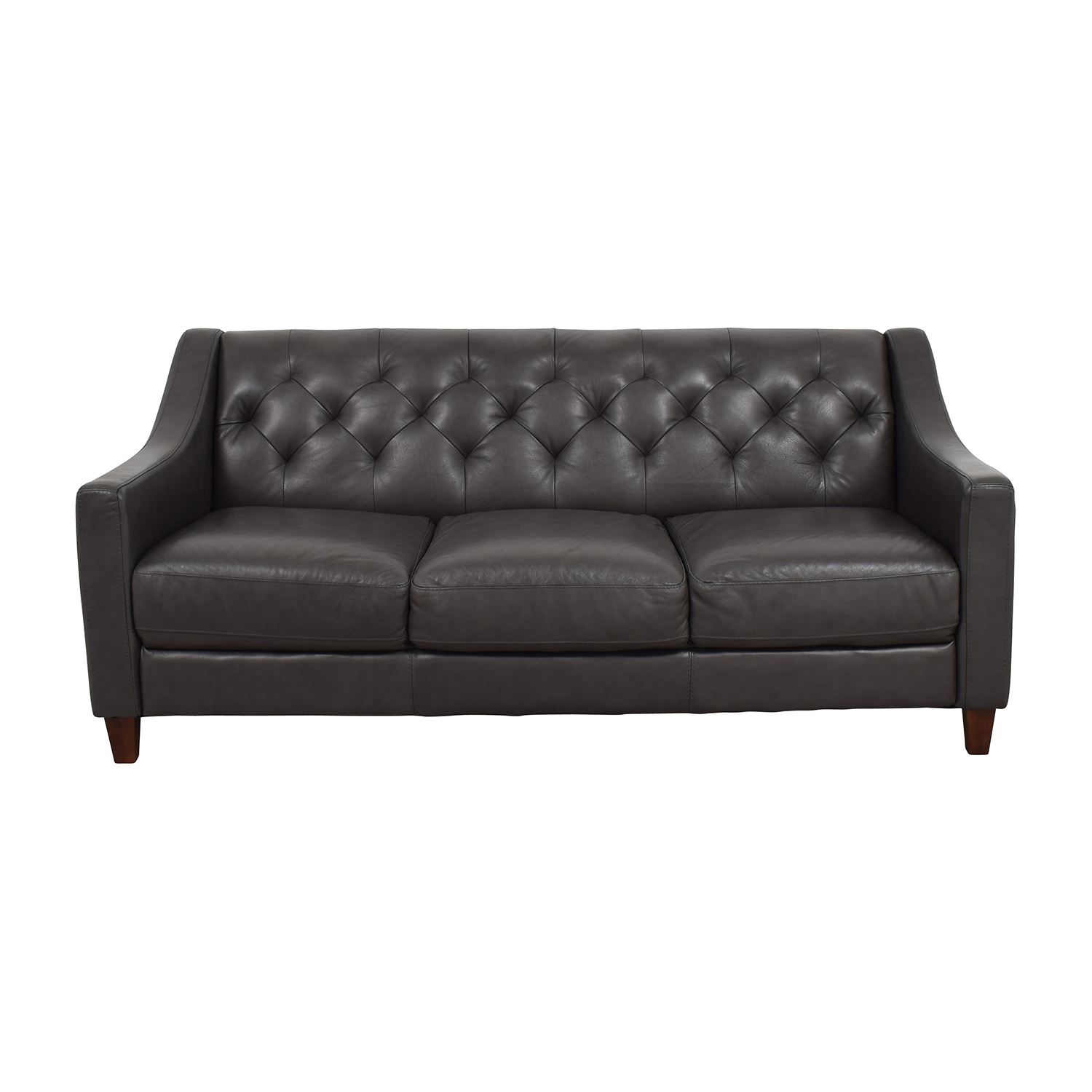Sofa S 69% Off - Macy's Macy's Tufted Gray Leather Sofa / Sofas