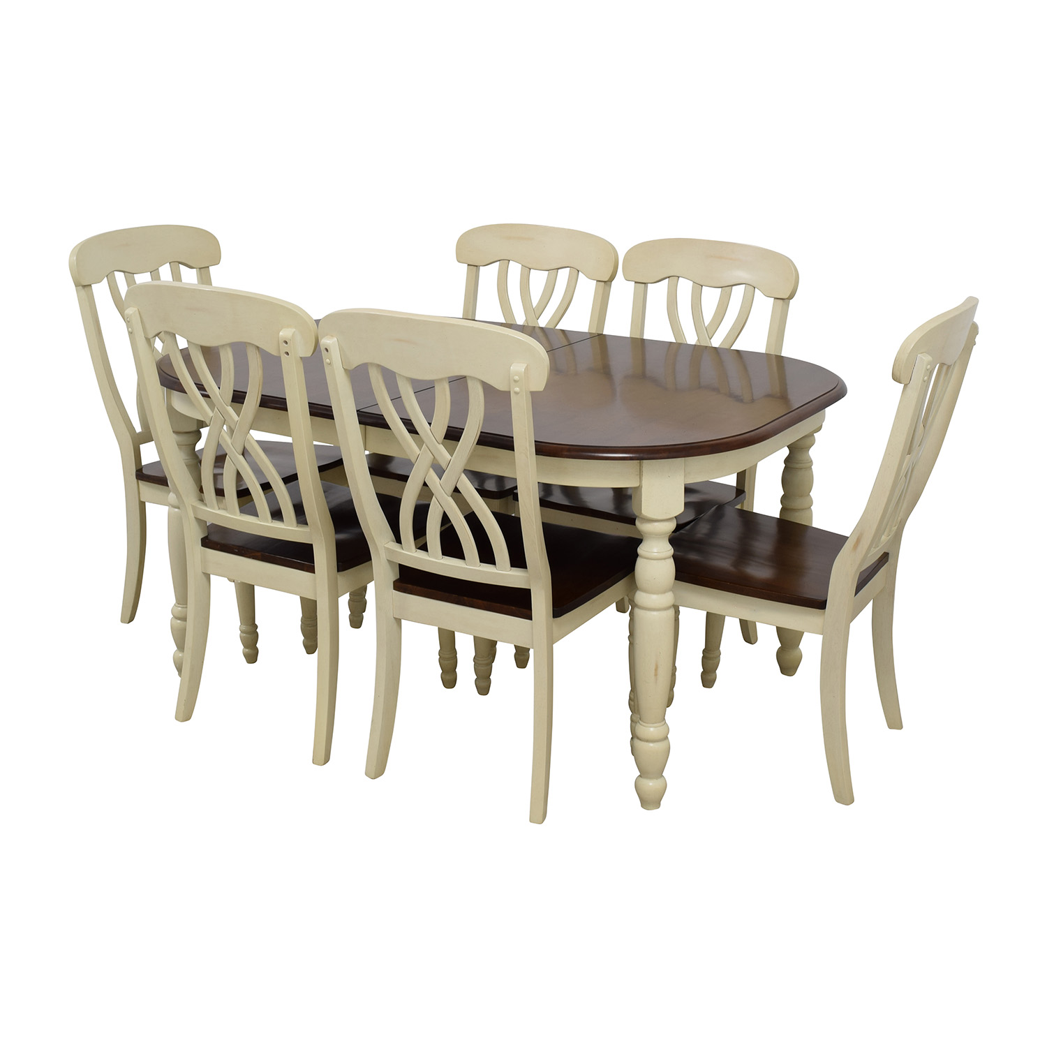 Second Hand Wood Sala Set 50 Off Extendable Wood Dining Table With Chairs Tables