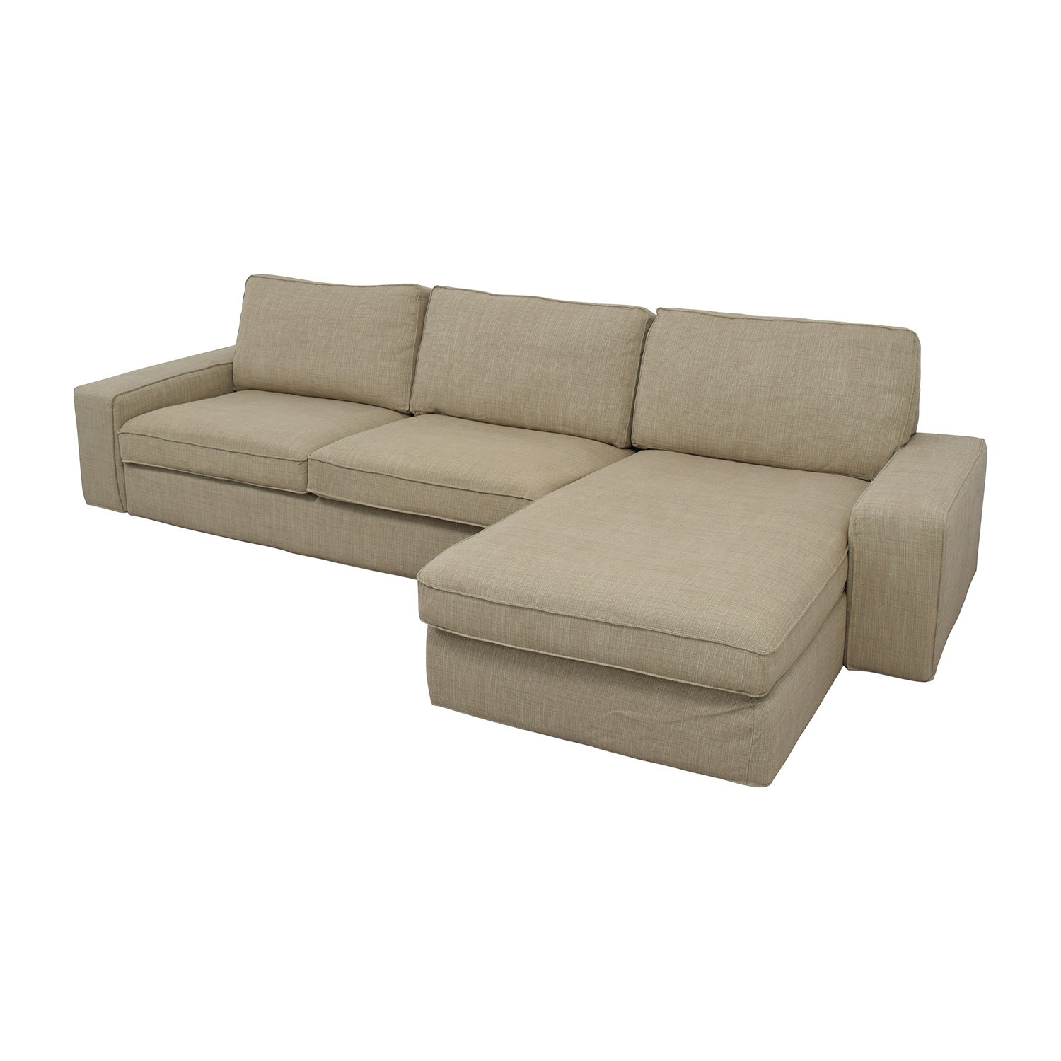 Ikea Bezüge Sofa 50 Off Ikea Ikea Kivik Sectional In Hillared Beige Sofas
