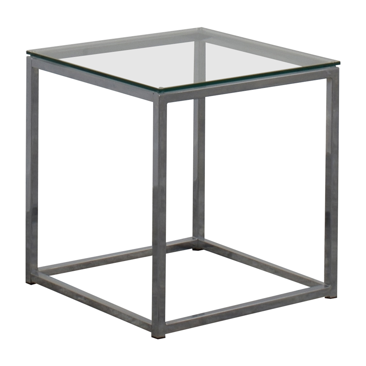 Glass End Table Top 80 Off Cb2 Cb2 Smart Glass Top Side Table Tables