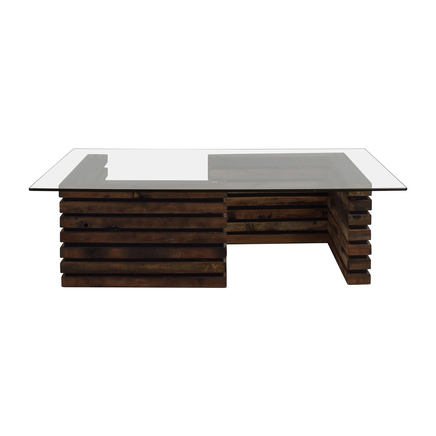 Rustic Wood And Glass Coffee Table Tables Used Tables For Sale