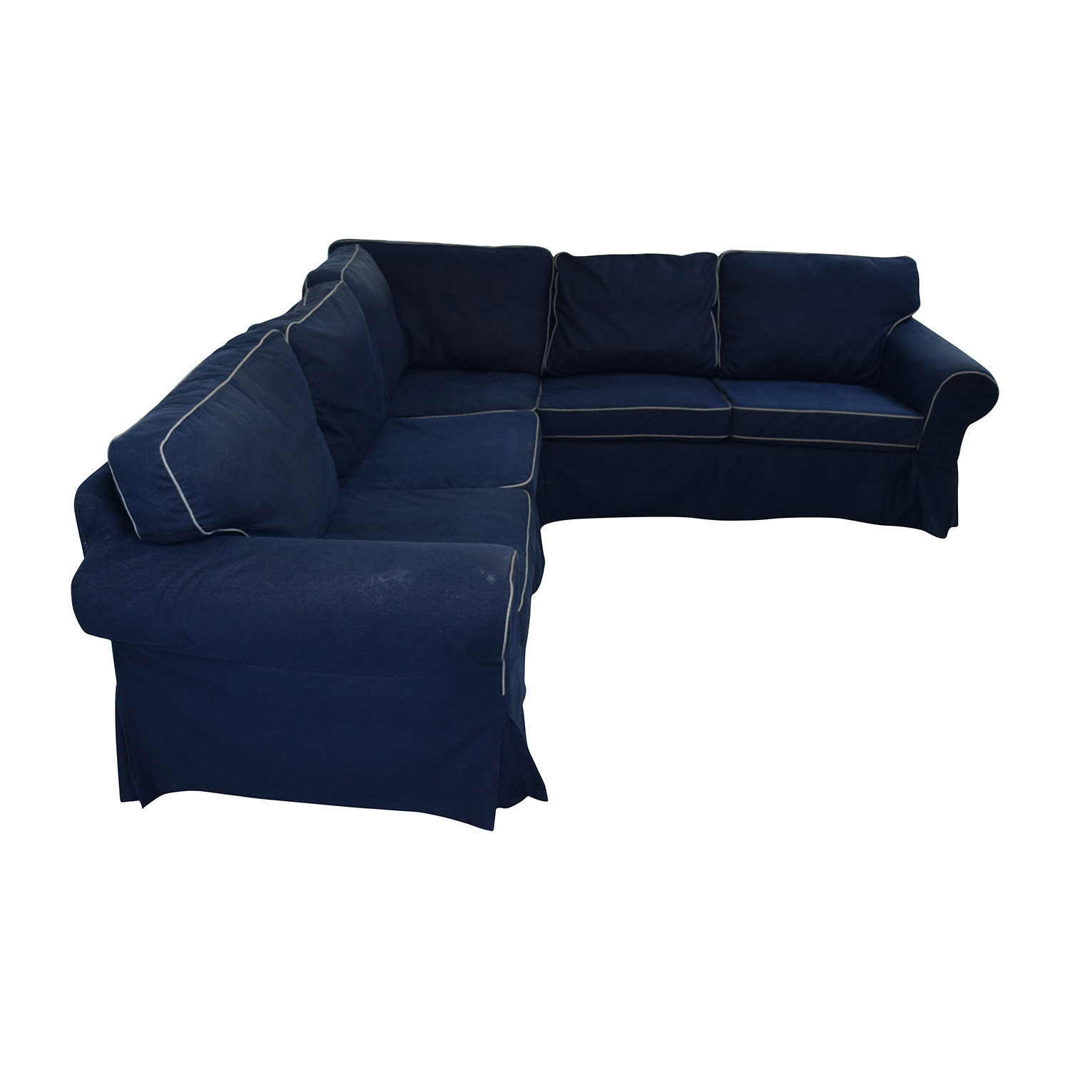 Ektorp Ikea 43% Off - Ikea Ikea Ektorp Navy Blue Skirted Sectional / Sofas