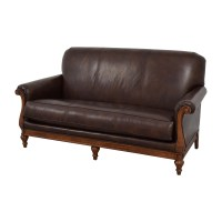 73% OFF - Thomasville Thomasville Mid-Century Leather Sofa ...