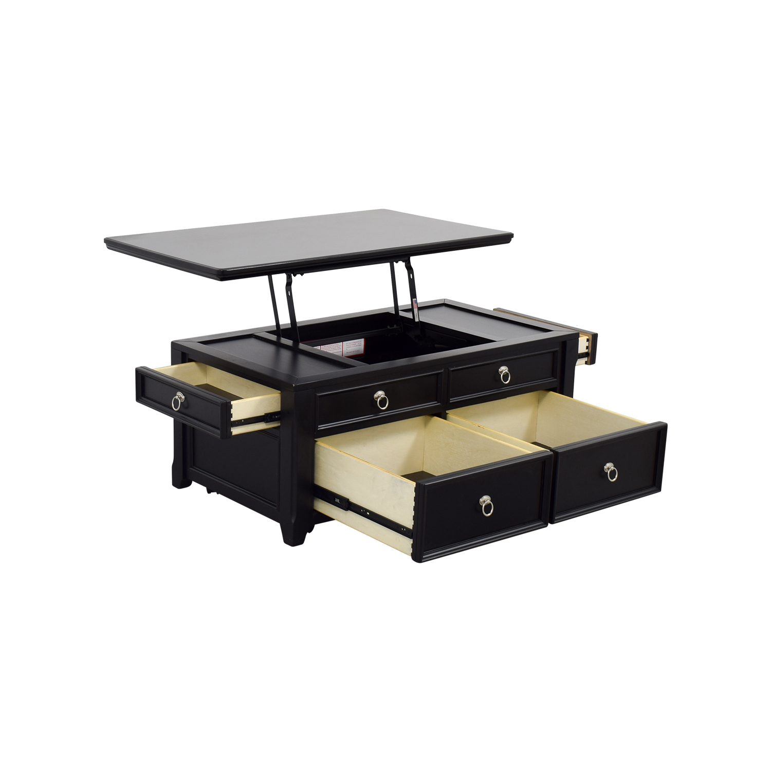 Top Lift Coffee Table 61 Off Ashley Furniture Ashley Furniture Black Lift Top