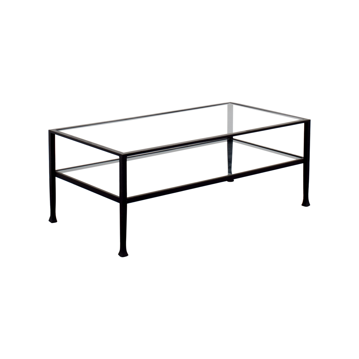Glass And Steel Coffee Tables 51 Off Rectangle Metal And Glass Coffee Table Tables