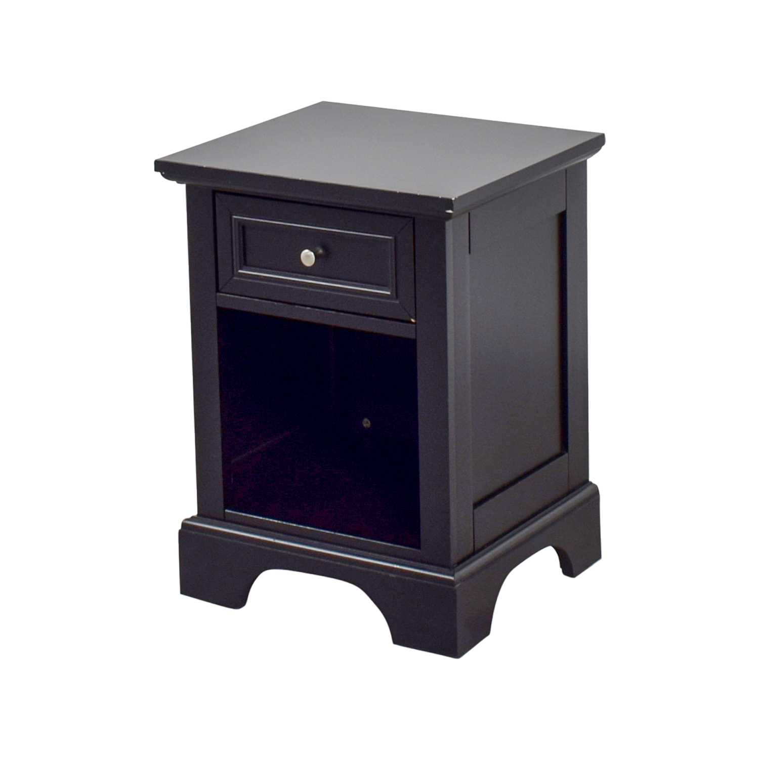 Black Side Table 50 Off Single Drawer Black Side Table Tables