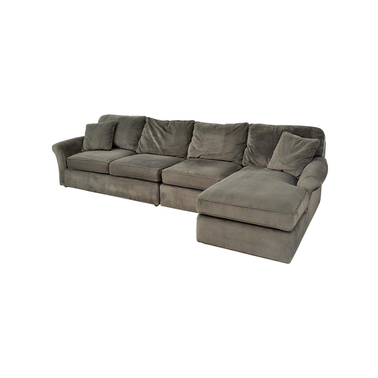 Corduroy Sofa Sectional 74% Off - Macy's Macy's Modern Concepts Charcoal Gray