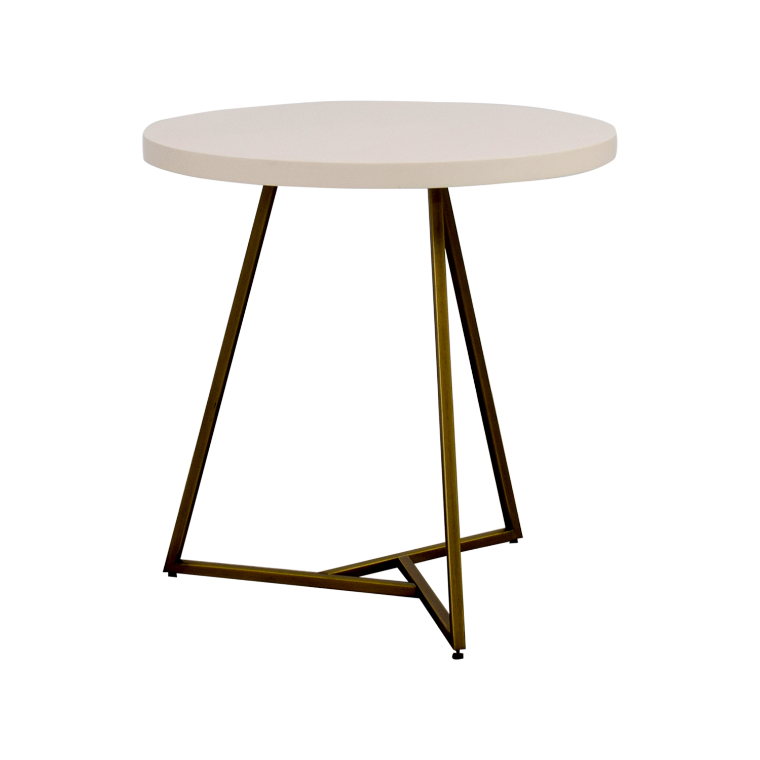 Cafe Tables 28 Off West Elm West Elm White Lacquer Top Cafe Table