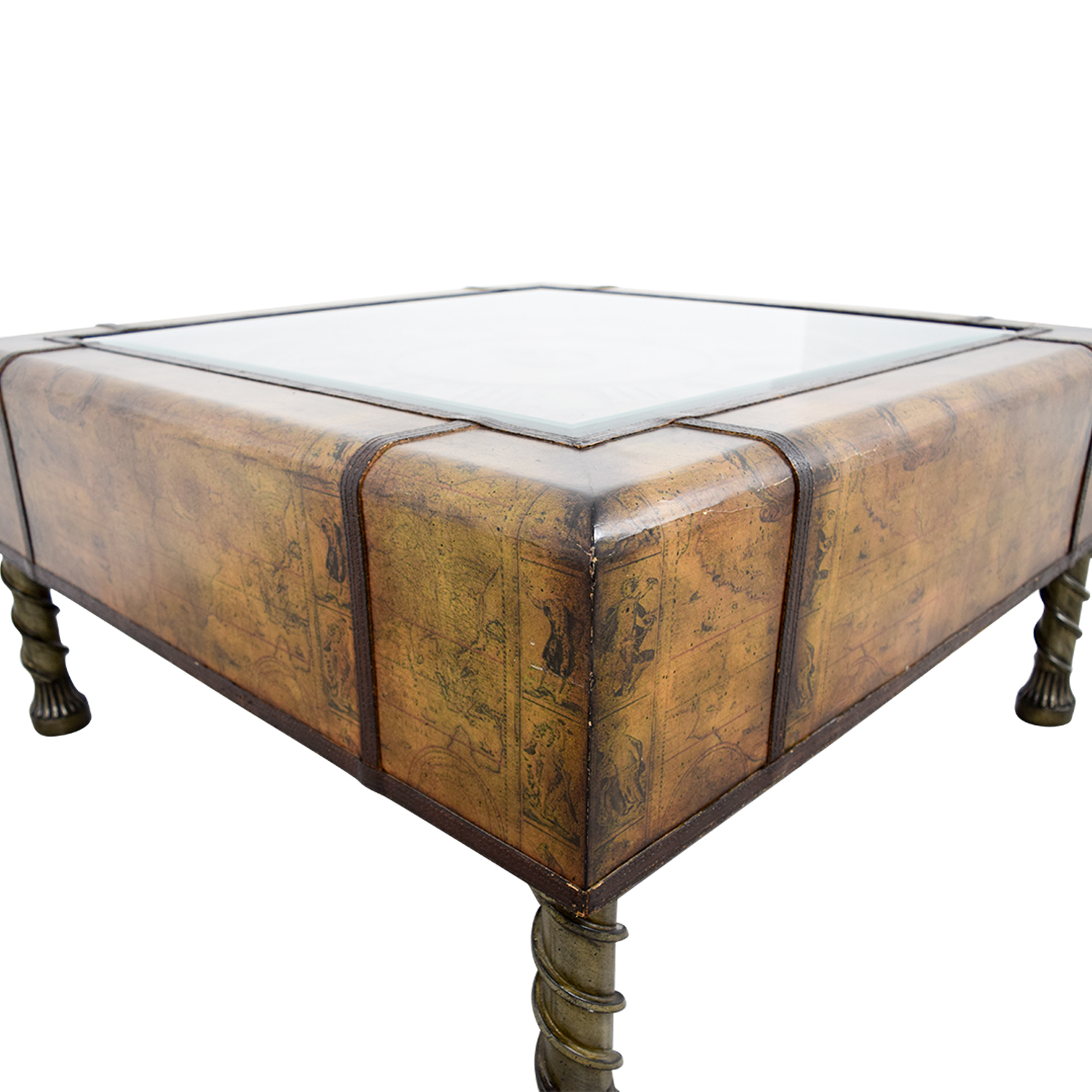 Buy Glass Coffee Table 90 Off Glass Clock Top Coffee Table Tables