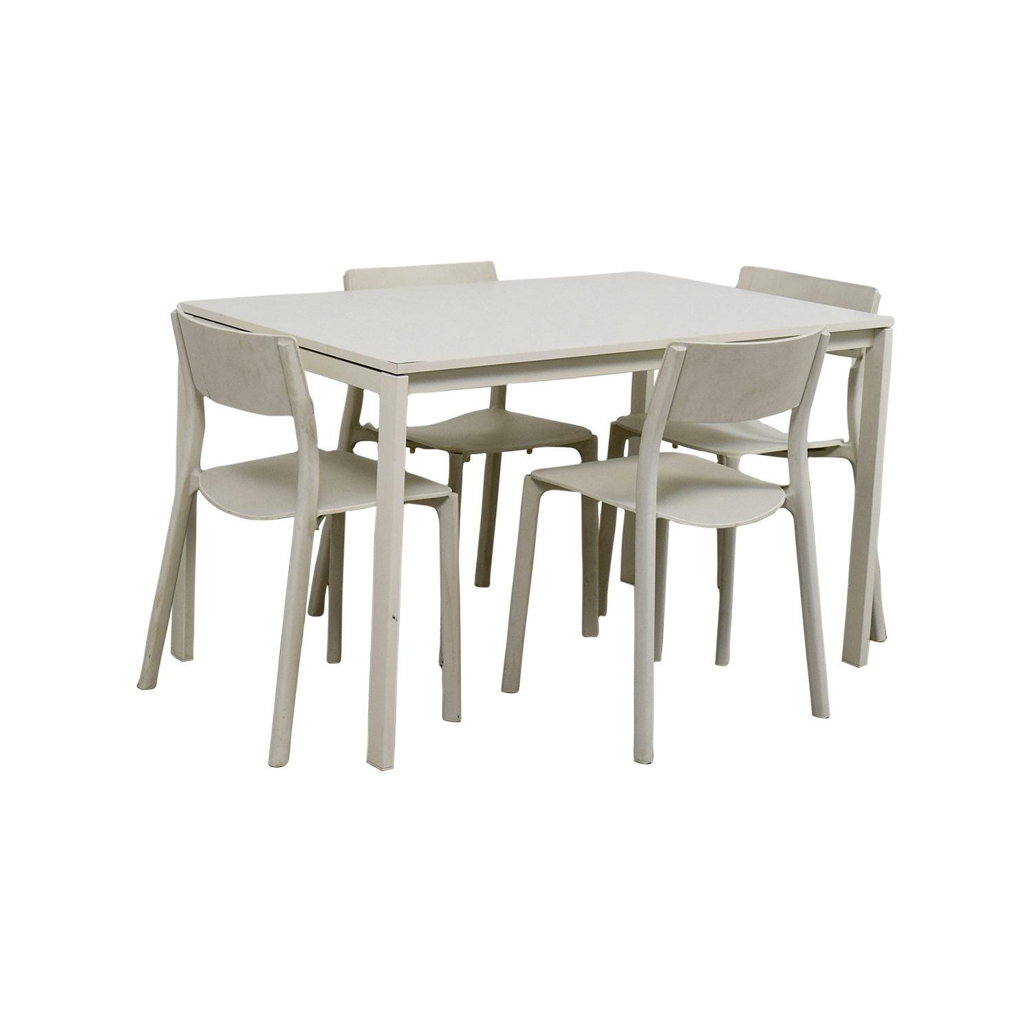 Set Table Ikea 65 Off Ikea Ikea White Kitchen Table And Chairs Tables