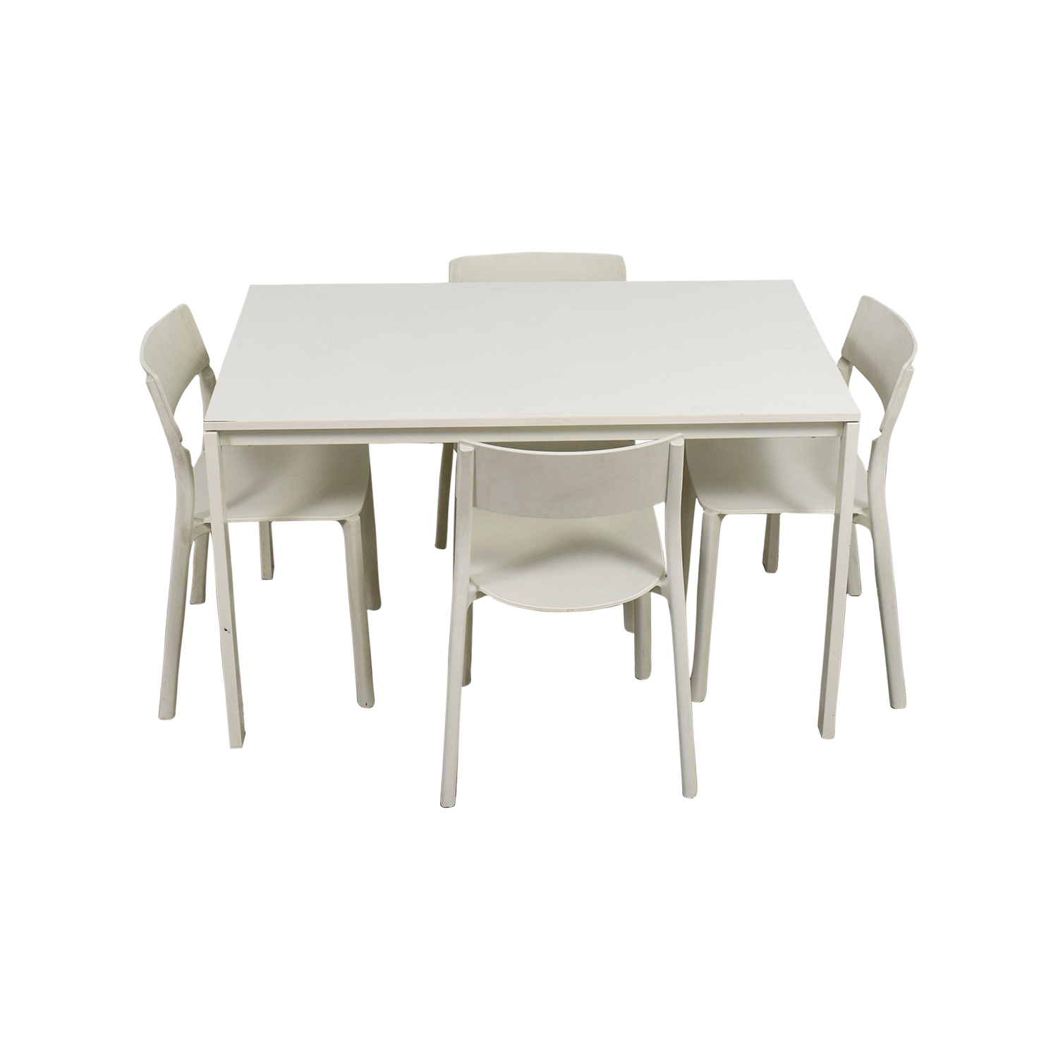 White Desk And Chair 65 Off Ikea Ikea White Kitchen Table And Chairs Tables