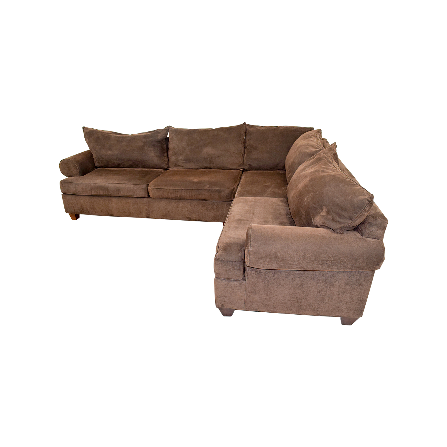 Sectional Sofa Corduroy 75% Off - Brown Corduroy L-shaped Sectional Couch / Sofas