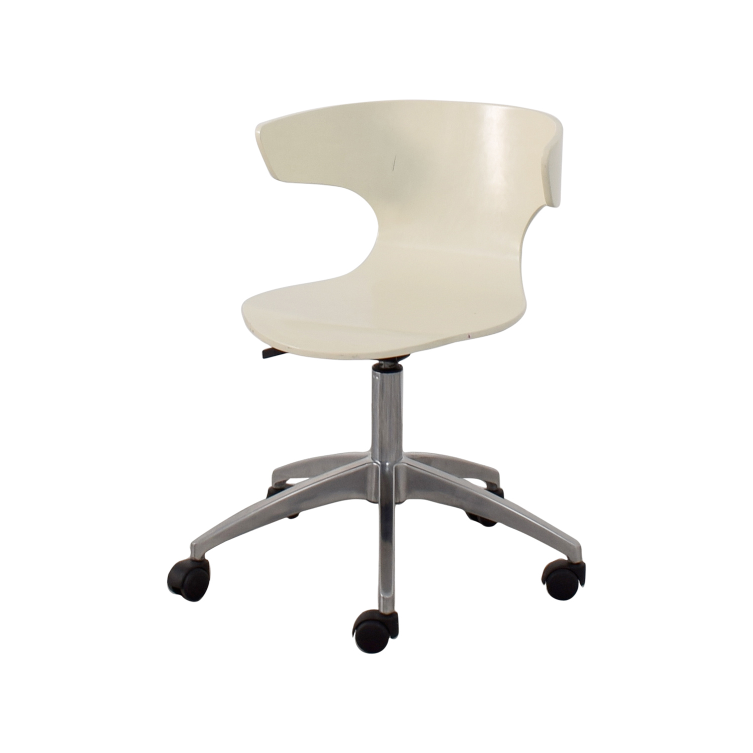 White Modern Chair 63 Off West Elm West Elm White Modern Chair With