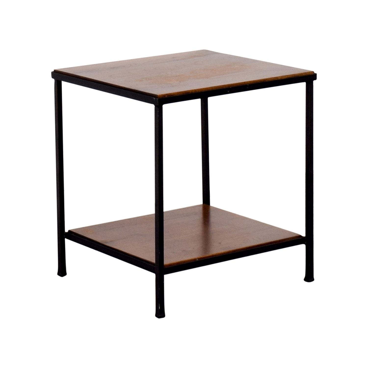 71 Off Pottery Barn Pottery Barn Wood And Metal Side
