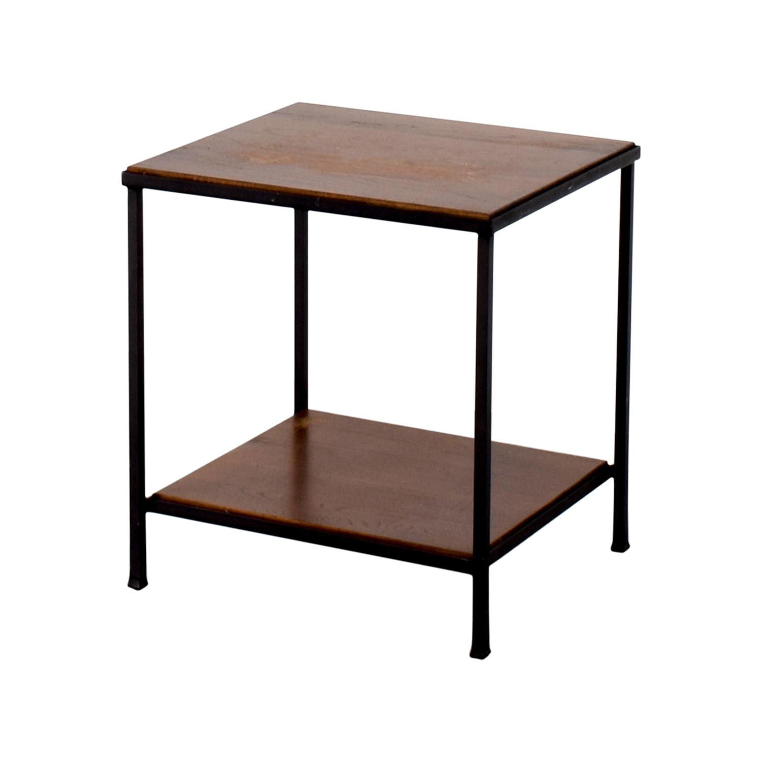 Wood And Metal Side Tables 71 Off Pottery Barn Pottery Barn Wood And Metal Side