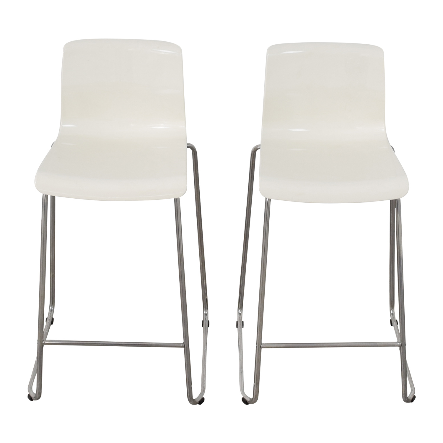 36 Inch Bar Stools Ikea 85 Off Ikea Ikea White Glen Bar Stools Chairs