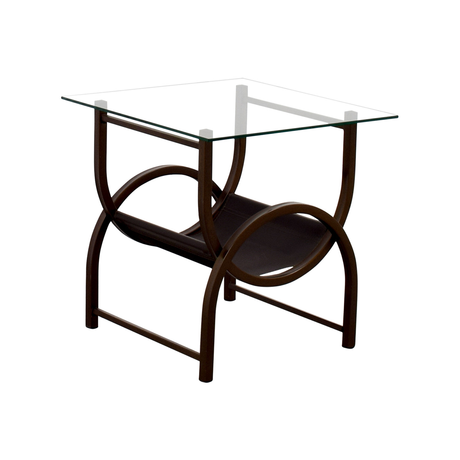 Side Table Glas 90 Off Glass And Wrought Iron Side Table Tables